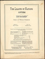 The League of Nations Anthem Onward!(007360-CPMLG)