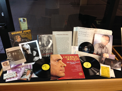 The George Jones exhibit at the Center for Popular Music